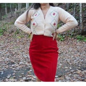 Vintage - Cardigan with Rose Embroidery